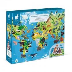 Educatieve puzzel Bedreigde diersoorten | Janod -