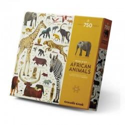 Puzzel Wereld van de Afrikaanse Dieren (750 st) | Crocodile Creek -