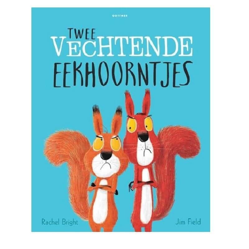 Twee Vechtende Eekhoorntjes   Prentenboek -