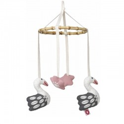 Mobiel zwaan roze | Franck & Fischer -
