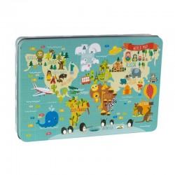 Puzzel Wereldkaart | Apli Kids -