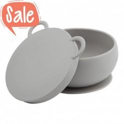 Schaal met zuignap grijs | Minikoioi -