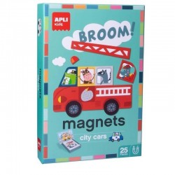 Magneten City Cars | Apli Kids -