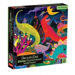 Glow in the Dark Puzzel Dino | Mudpuppy -
