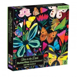 Glow in the Dark Puzzel Butterflies | Mudpuppy -