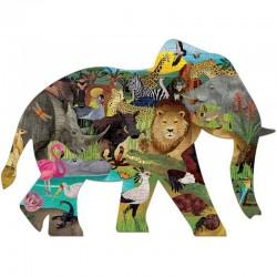 Vorm Puzzel Safari / Olifant | Mudpuppy -