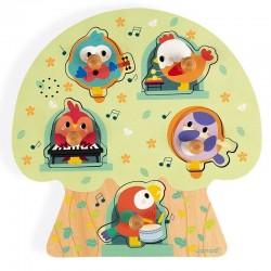 Muziek puzzel vogelfeest | Janod -