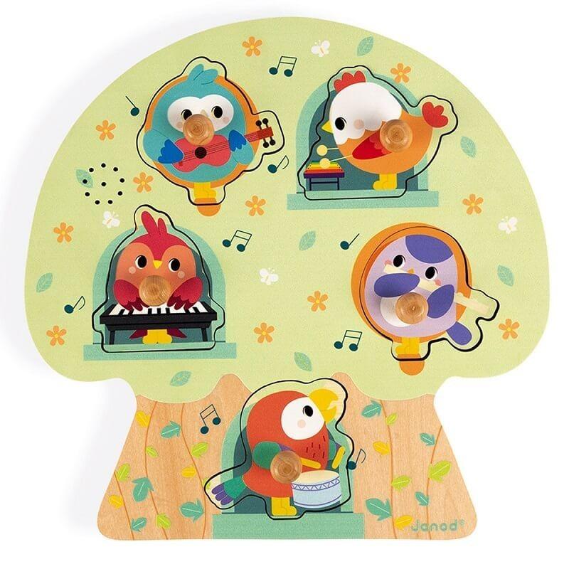 Muziek puzzel vogelfeest   Janod -
