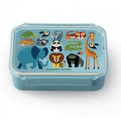 crocodile creek bento box jungle friends lunchbox broodtrommel