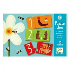 Duo puzzel Cijfers | Djeco -
