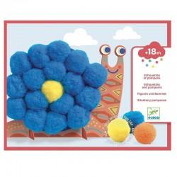 djeco pompom fluffy animals