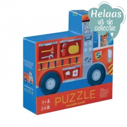 Puzzel brandweer 2 in 1 | Crocodile Creek -