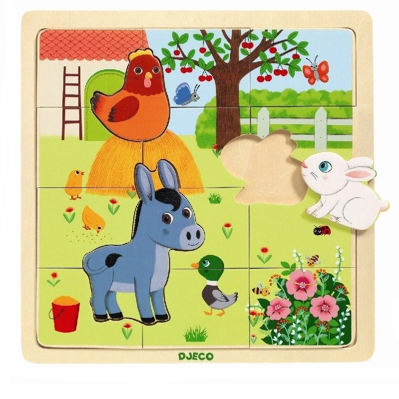 Puzzel farm   Djeco -
