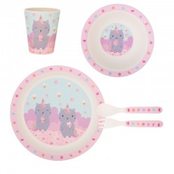 Bamboe servies set Luna Caticorn | Sass & Belle -